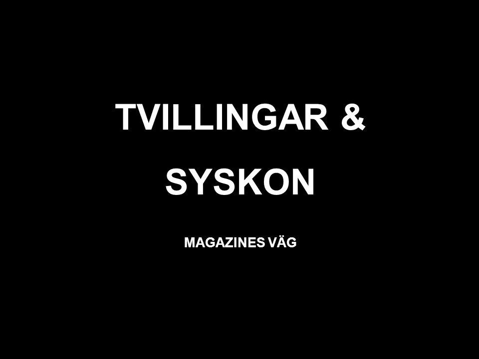 svart TVILLINGAR & SYSKON MAGAZINES VÄG
