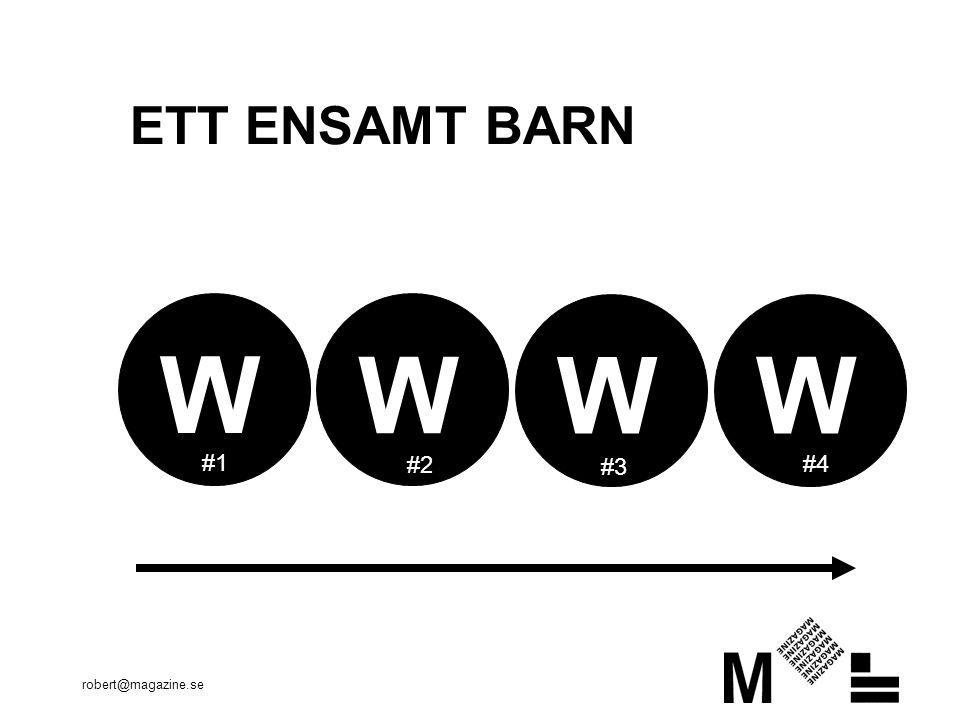 robert@magazine.se ETT ENSAMT BARN W W W W #1 #2 #3 #4