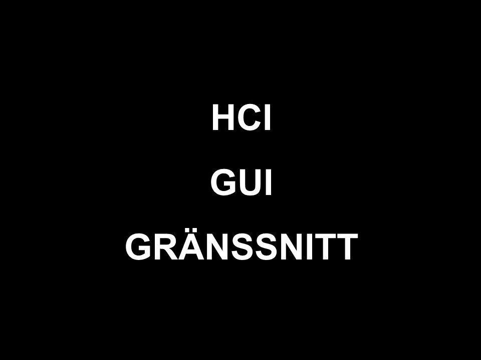 svart HCI GUI GRÄNSSNITT