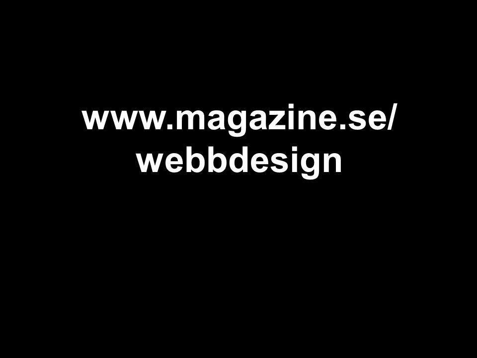 svart - mellan dröm och verklighet www.magazine.se/ webbdesign