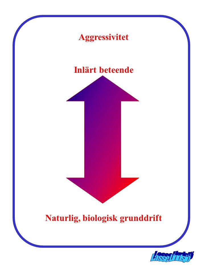 Aggressivitet Inlärt beteende Naturlig, biologisk grunddrift
