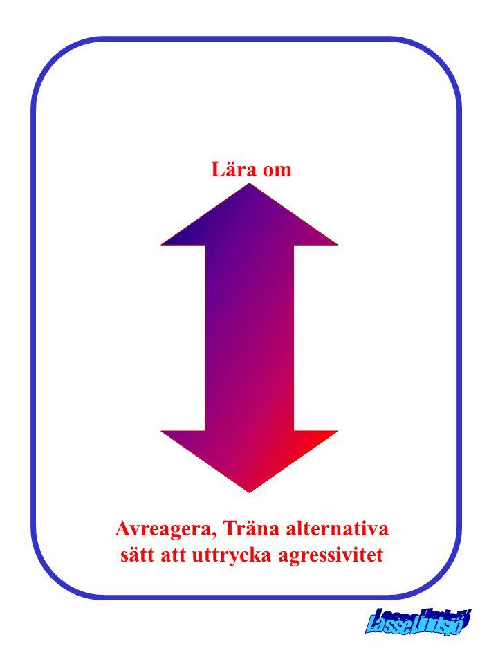 Lära om Avreagera, Träna alternativa sätt att uttrycka agressivitet