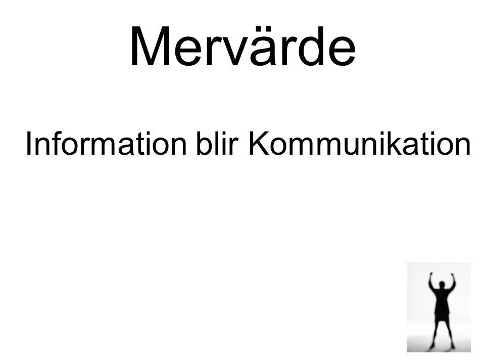 Mervärde Information blir Kommunikation