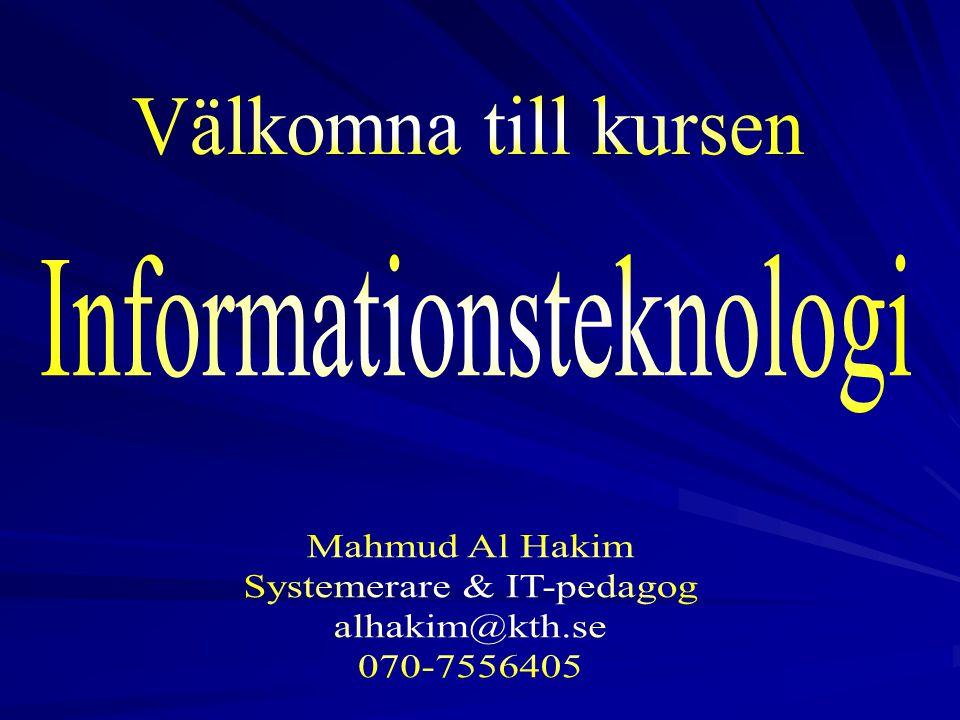 2 Agenda Presentation av kursledare och deltagare Mål för kursen KursplaneringKurslitteratur Betygsättning, info om tentamen Kursinnehåll Modul1.