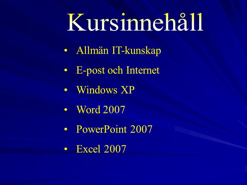 9 Modul 1 Allmän IT 1.1. Datorer 2. 2. Hårdvara 3.
