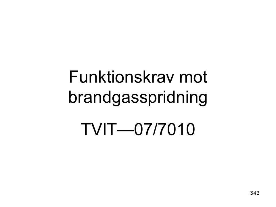 343 Funktionskrav mot brandgasspridning TVIT—07/7010