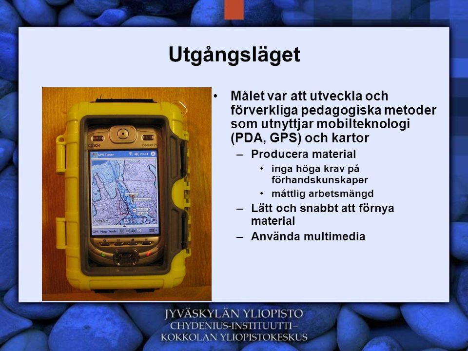 Fortsättningen •Vidareutveckling av konceptet –GIS i gymnasieundervisning •Utveckla kartmotor som är lämplig för undervisning •Utnyttja GIS i såningsmaskiner •GPS och sensornets