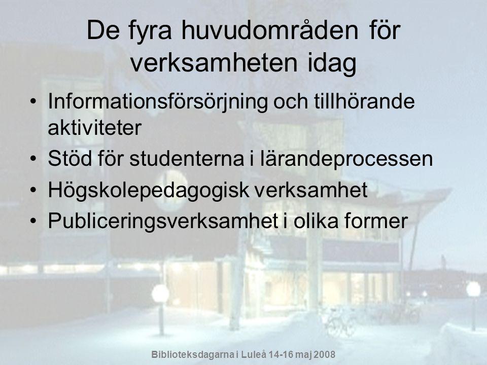 Biblioteksdagarna i Luleå 14-16 maj 2008 Vad med framtiden.