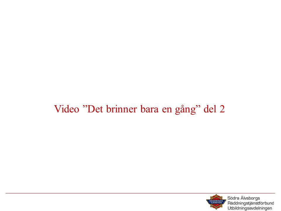 """Video """"Det brinner bara en gång"""" del 2"""