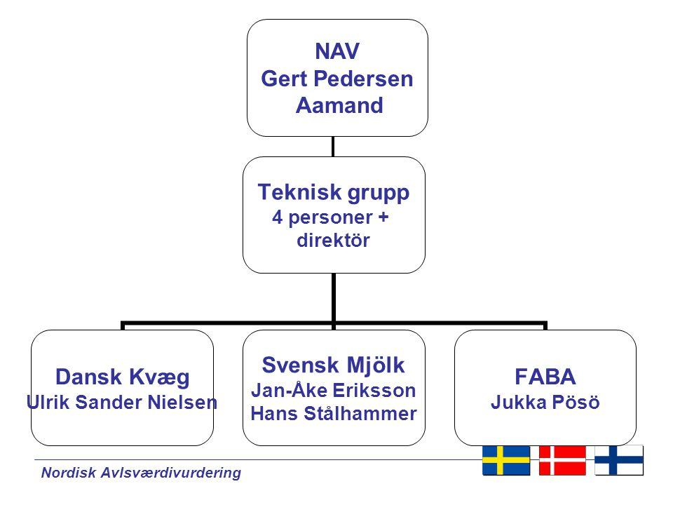 Nordisk Avlsværdivurdering NAV - Nätverk NAV projekt