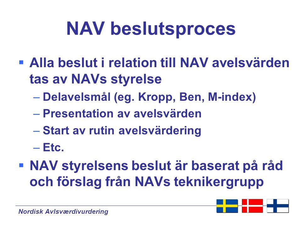 Nordisk Avlsværdivurdering NAV model Danmark Finland Sverige Ko 9Finland Ko 5Sverige Ko 1Danmark Ko 2Danmark Ko 6Sverige Data NAV Avelsvärden NAV model