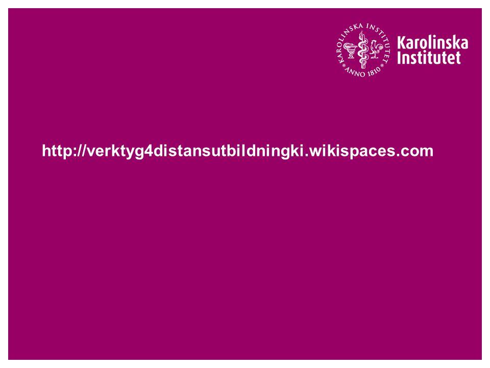 http://verktyg4distansutbildningki.wikispaces.com
