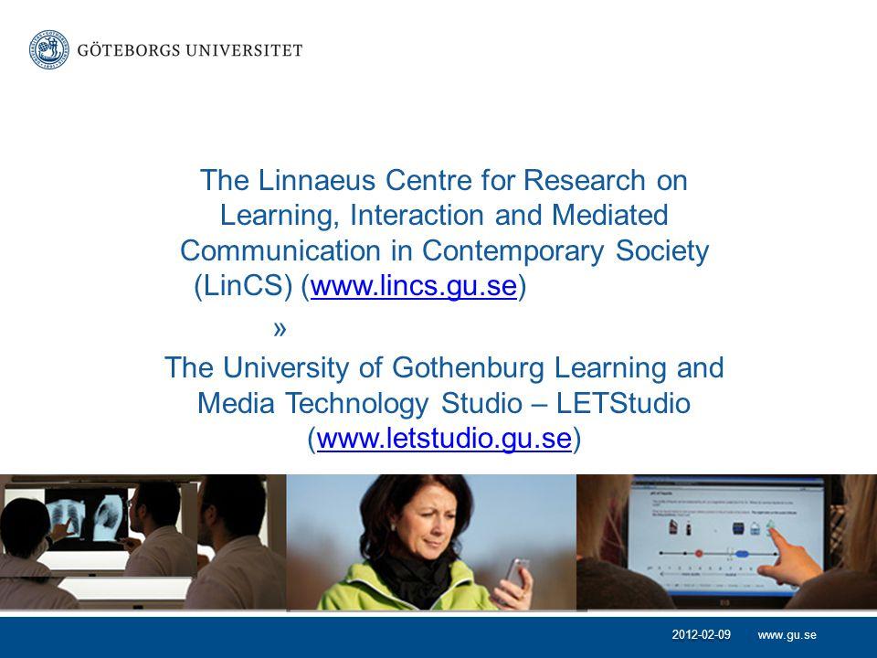 www.gu.se •Literacy, medier och infrastrukturer för lärande.