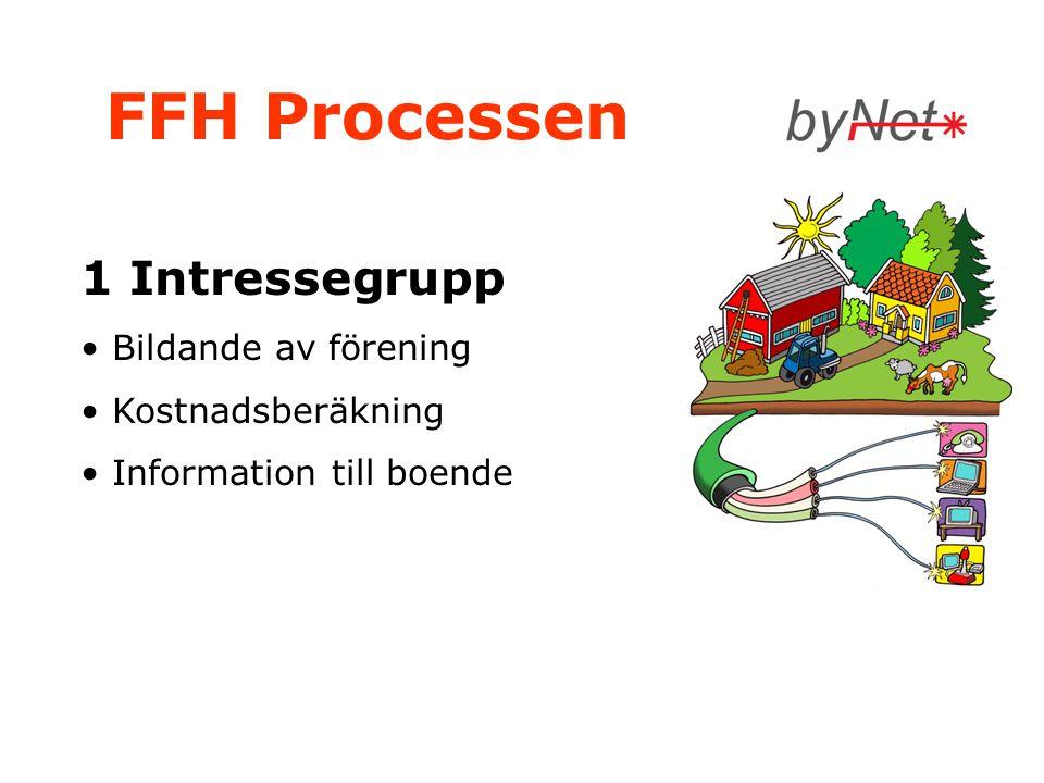 FFH Processen 1 Intressegrupp • Bildande av förening • Kostnadsberäkning • Information till boende