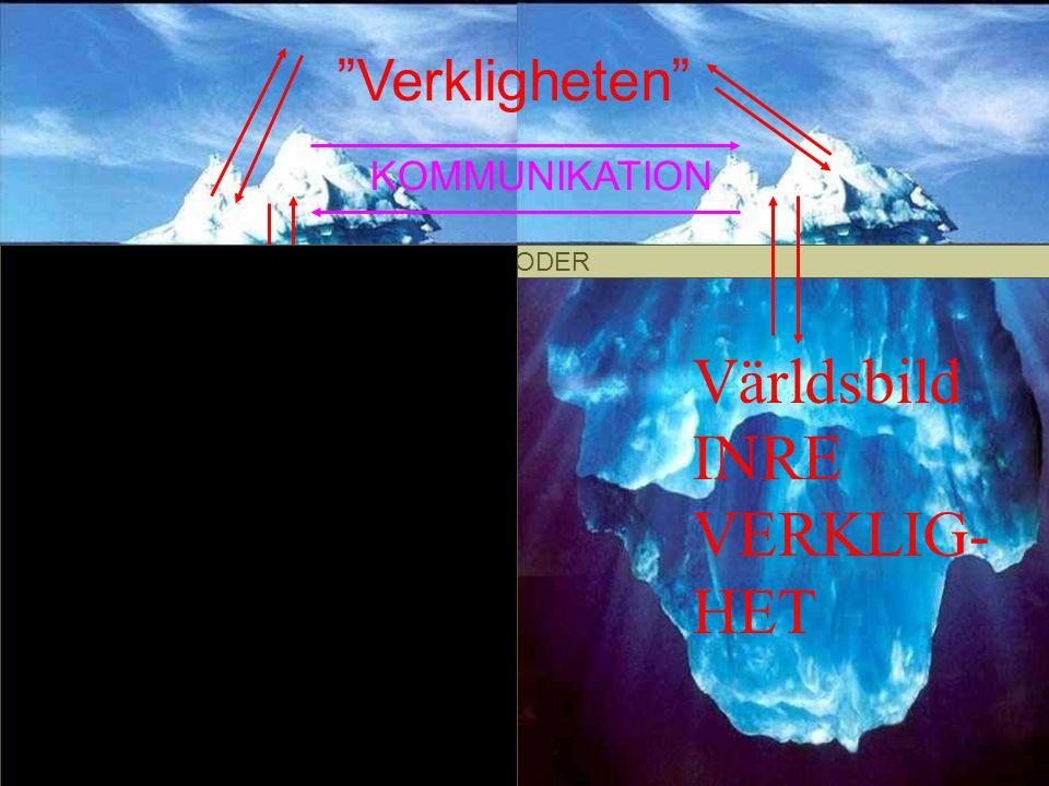 KODER Verkligheten Världsbild INRE VERKLIG- HET Världsbild INRE VERKLIG- HET KOMMUNIKATION