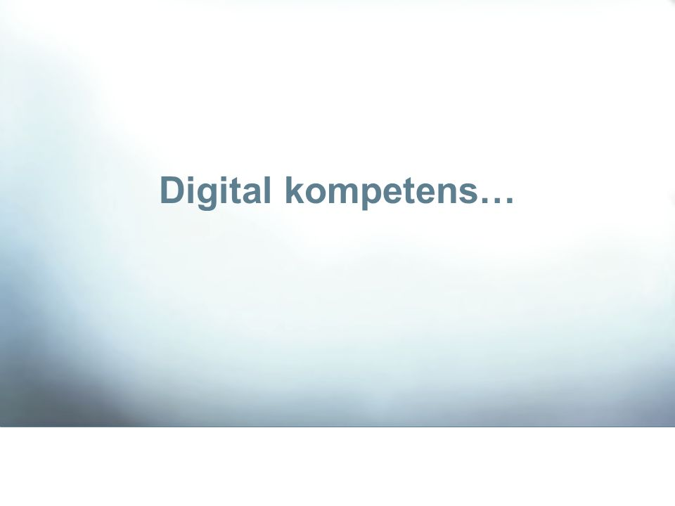 …digitala klyftor