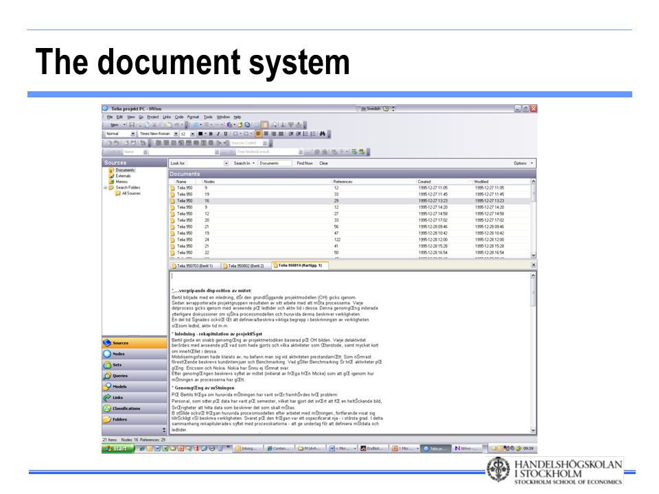 The document system