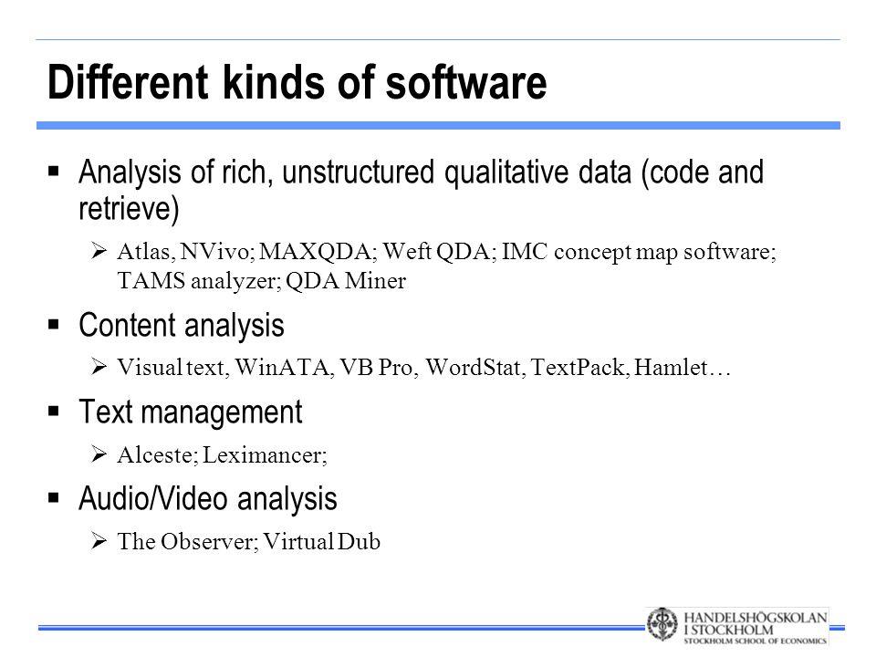 Analys med NVivo Importera data Skapa kategoristruktur Klassificera data Generera teori och testa hypoteser Rapportera resultat