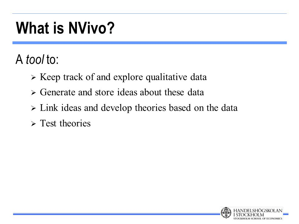 The basic structure of NVivo Source/Document system Node system