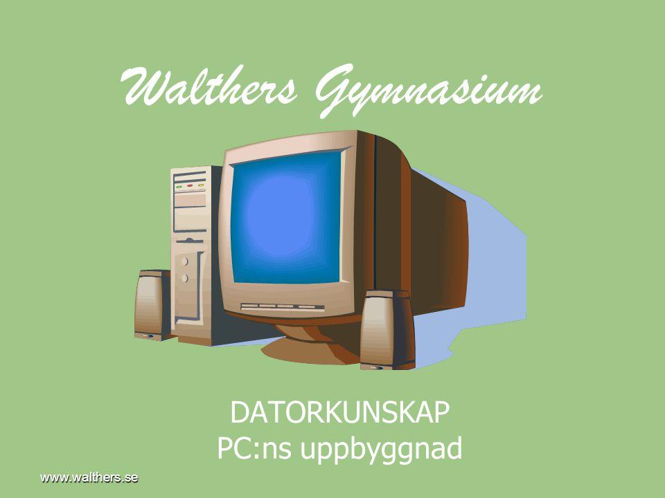 www.walthers.se Hårddisk • Normalt en packe med magnetiska skivor för lagring av information (data).