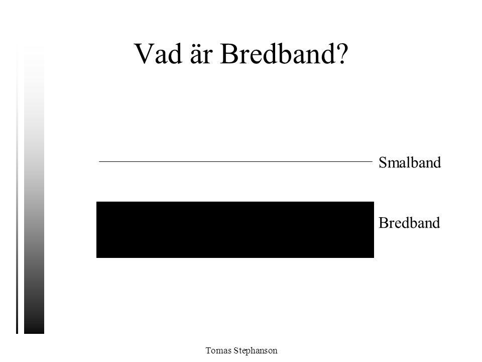 Tomas Stephanson Vad är Bredband? Smalband Bredband