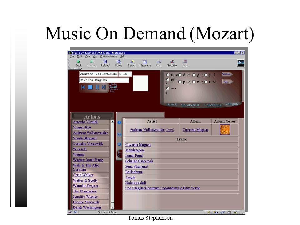 Tomas Stephanson Music On Demand (Mozart)