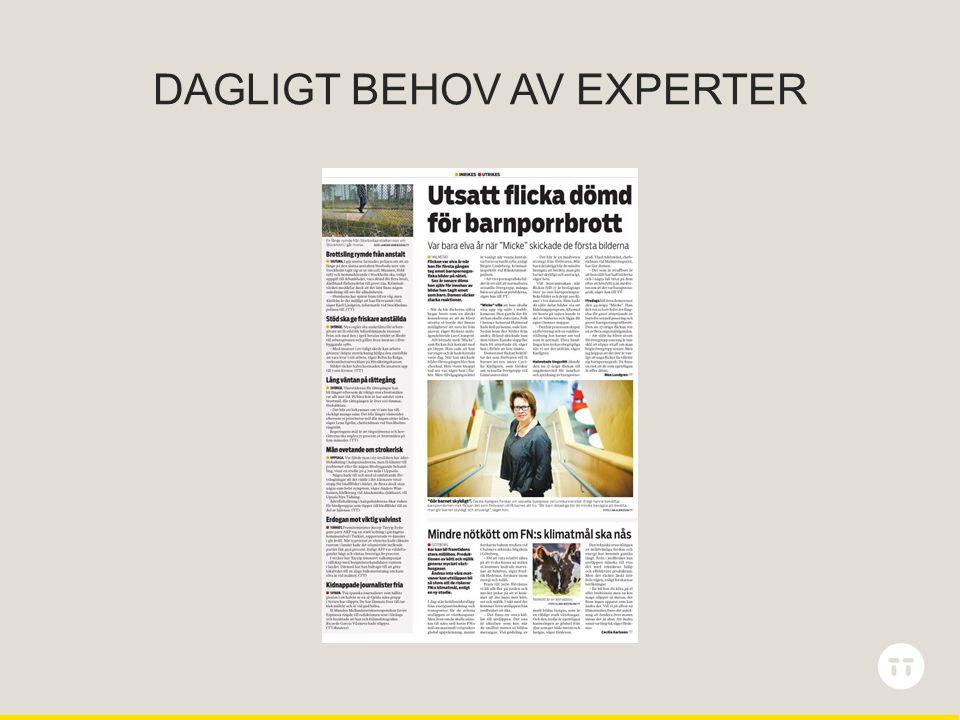 DAGLIGT BEHOV AV EXPERTER