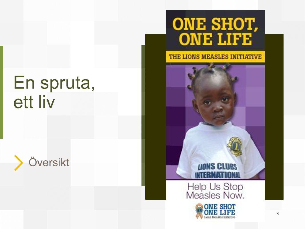 Uppmaning till handling.Mässlingen tar 335 barns liv varje dag – mer än 122 000 offer om året.