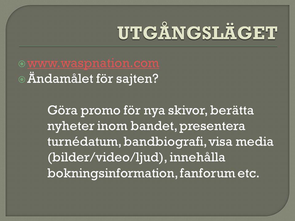  www.waspnation.com www.waspnation.com  Ändamålet för sajten.