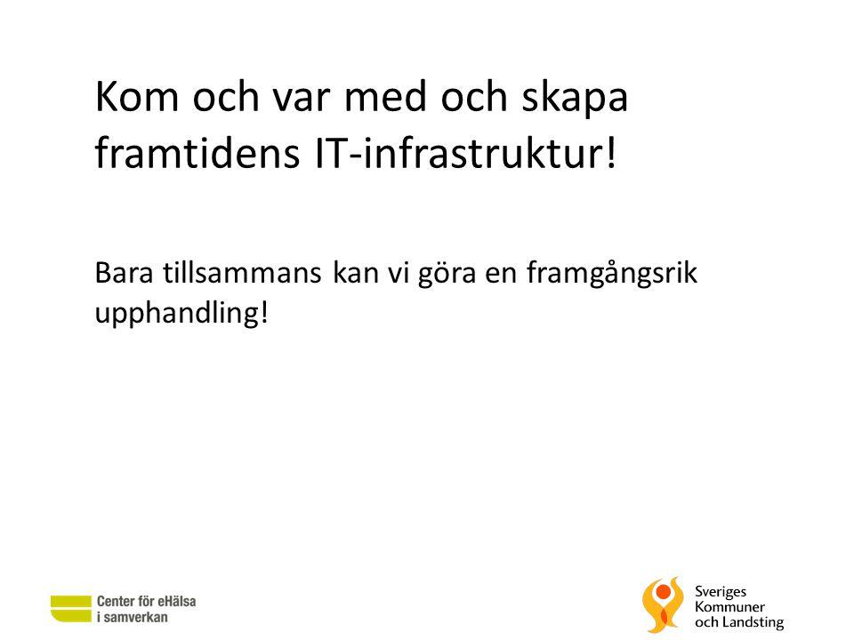 Kom och var med och skapa framtidens IT-infrastruktur! Bara tillsammans kan vi göra en framgångsrik upphandling!