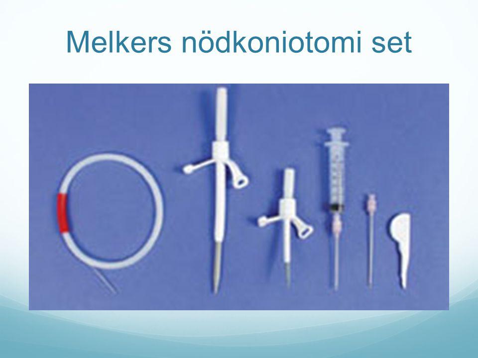 Melkers nödkoniotomi set