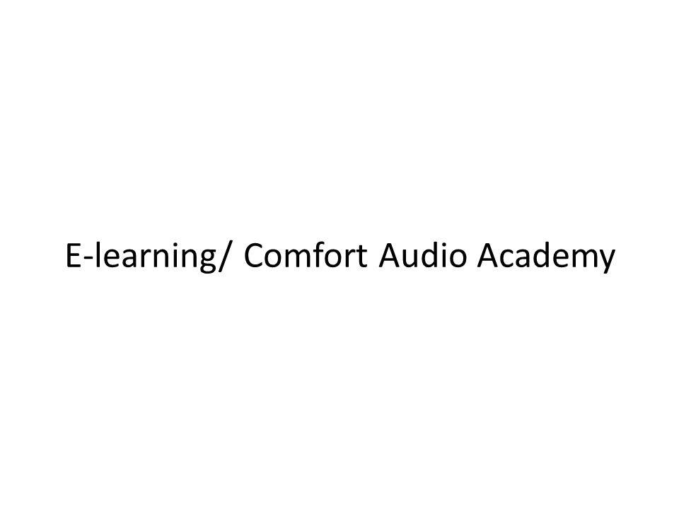 Bakgrund SyfteSkapa en pedagogiskt och lättillgänglig plattform för utbildning av Comfort Audios anställda, återförsäljare, distributörer m.fl.