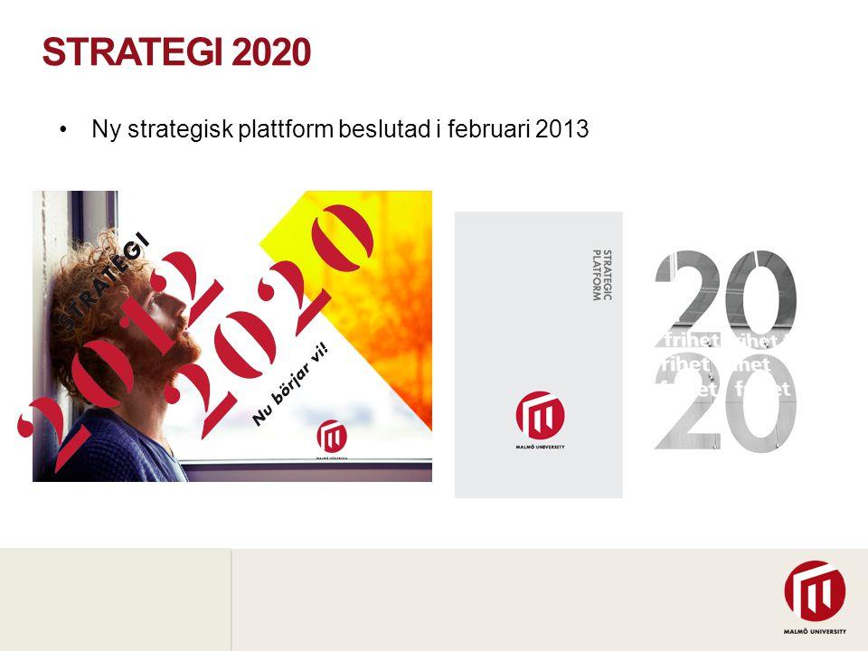 2010 05 04 STRATEGI 2020 •Ny strategisk plattform beslutad i februari 2013