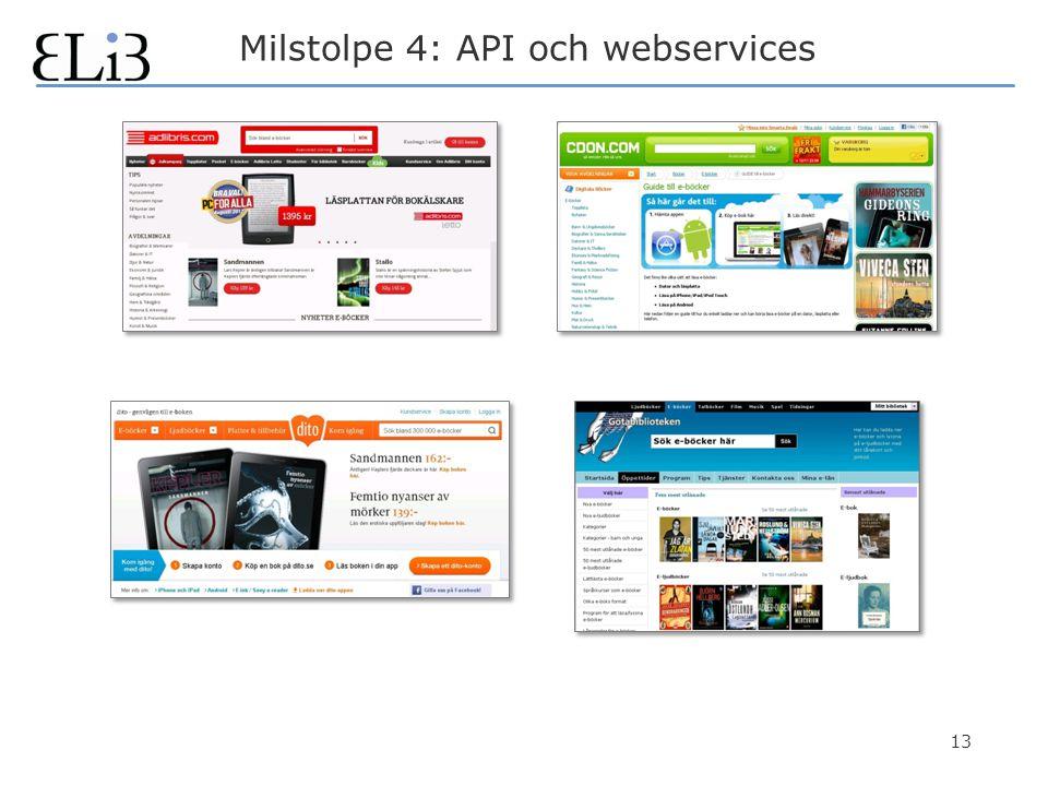 13 Milstolpe 4: API och webservices