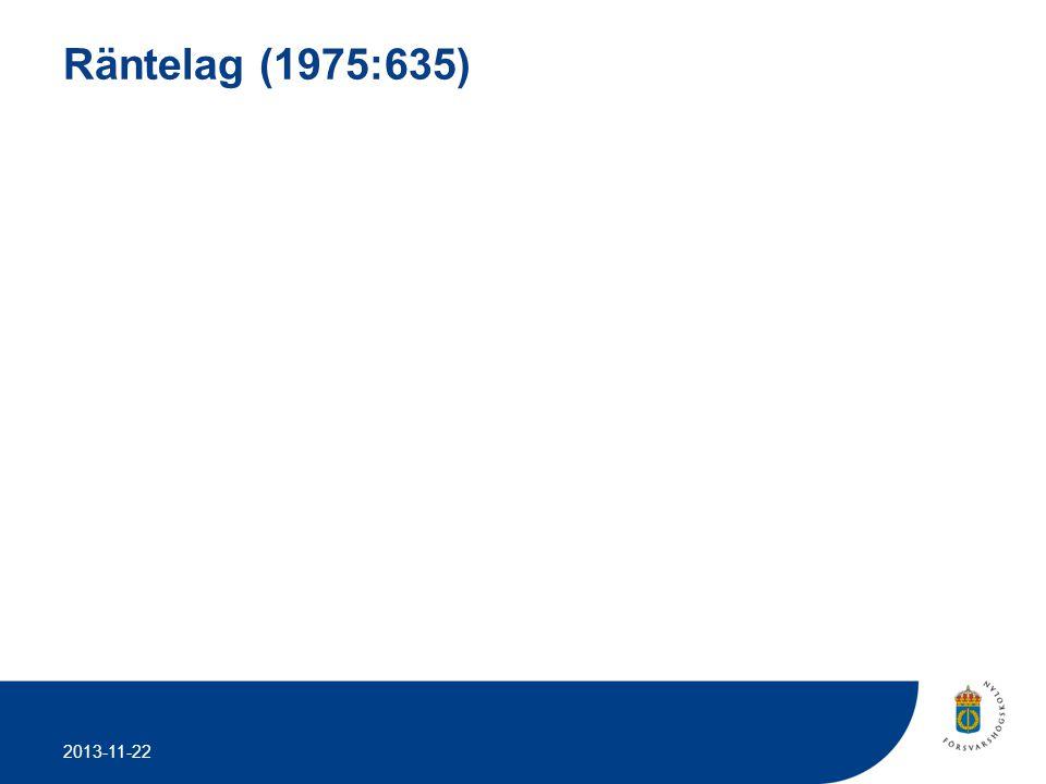 2013-11-22 Räntelag (1975:635)