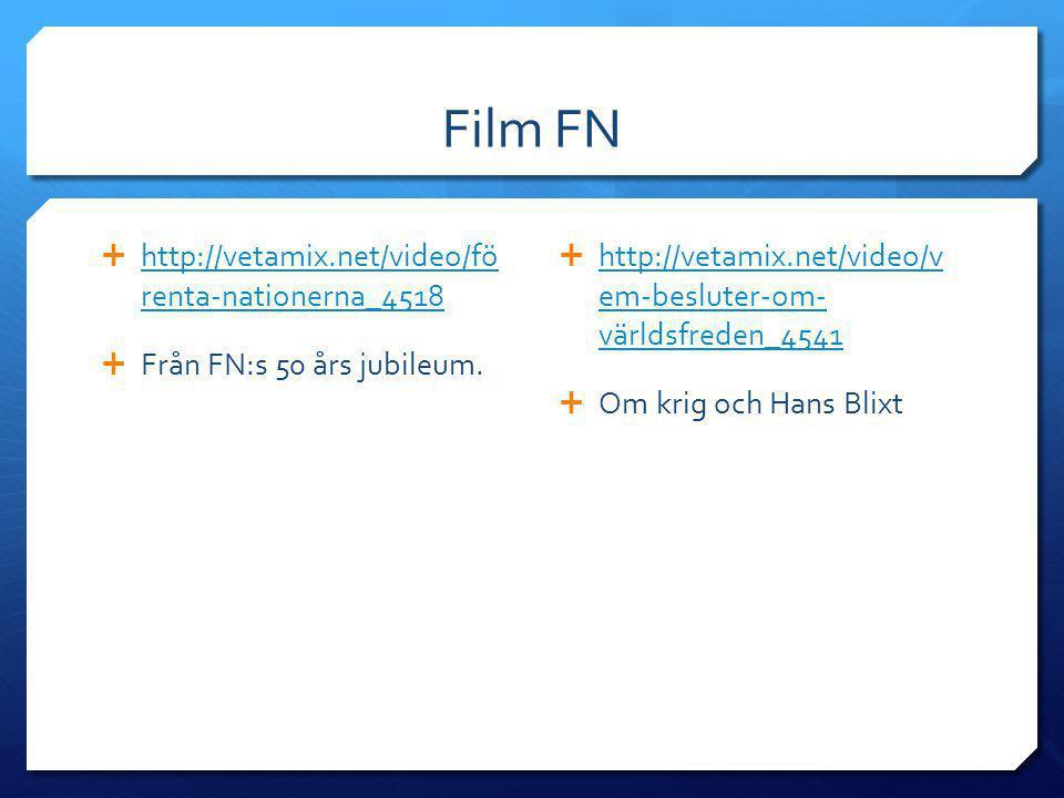 Film FN  http://vetamix.net/video/fö renta-nationerna_4518 http://vetamix.net/video/fö renta-nationerna_4518  Från FN:s 50 års jubileum.  http://ve