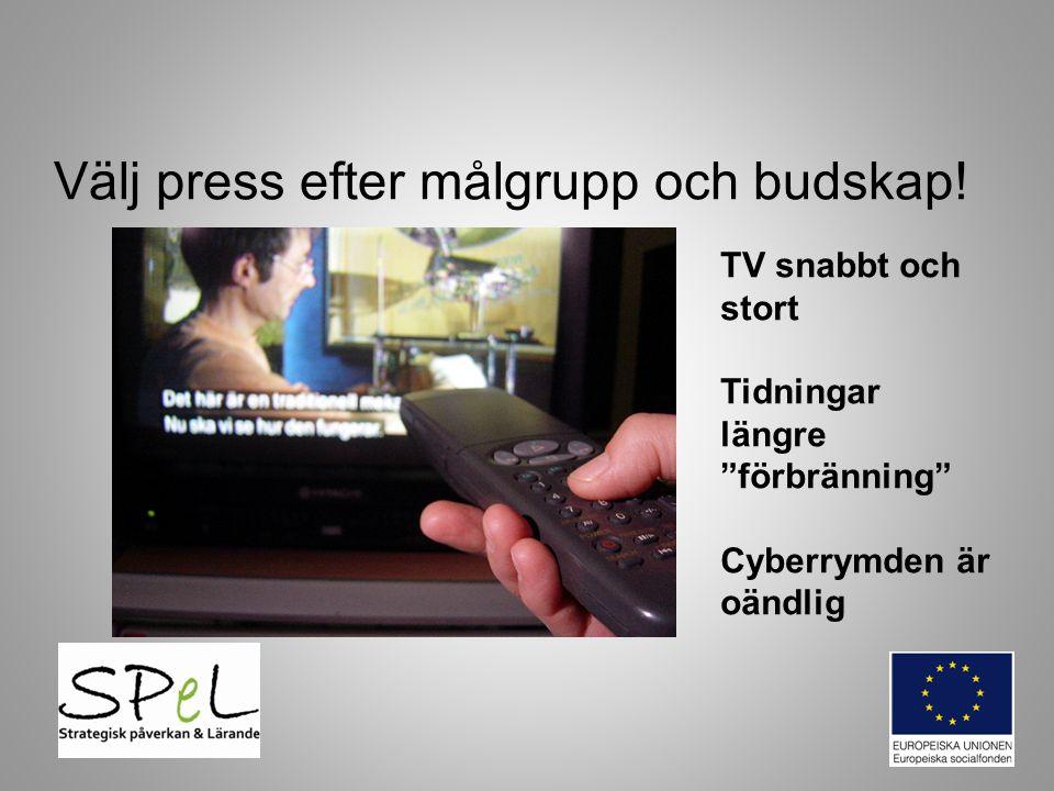 """Välj press efter målgrupp och budskap! TV snabbt och stort Tidningar längre """"förbränning"""" Cyberrymden är oändlig"""