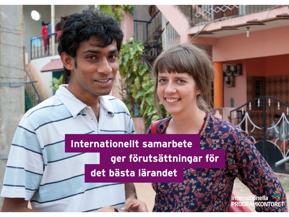 Internationella programkontoret Uppdrag: stödja olika former av internationellt samarbete inom utbildning främja svenskt deltagande i programmen analysera och sprida resultat i syfte att öka kvaliteten inom utbildningsområdet.
