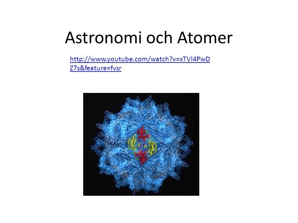 Astronomi och Atomer http://www.youtube.com/watch?v=xTVl4PwD Z7s&feature=fvsr