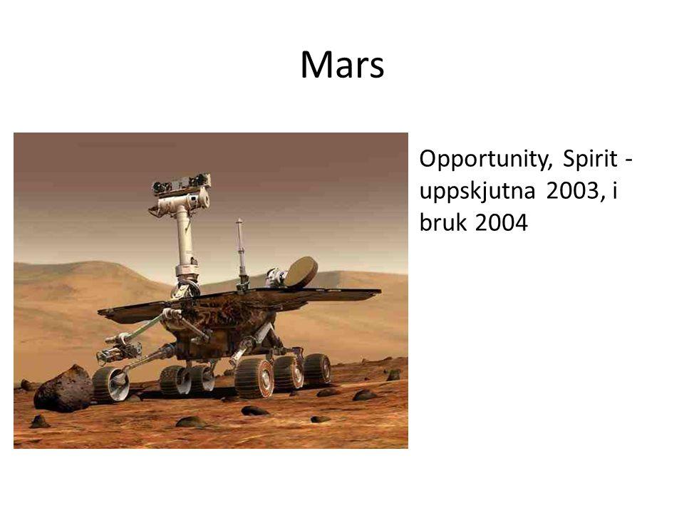 Mars Opportunity, Spirit - uppskjutna 2003, i bruk 2004
