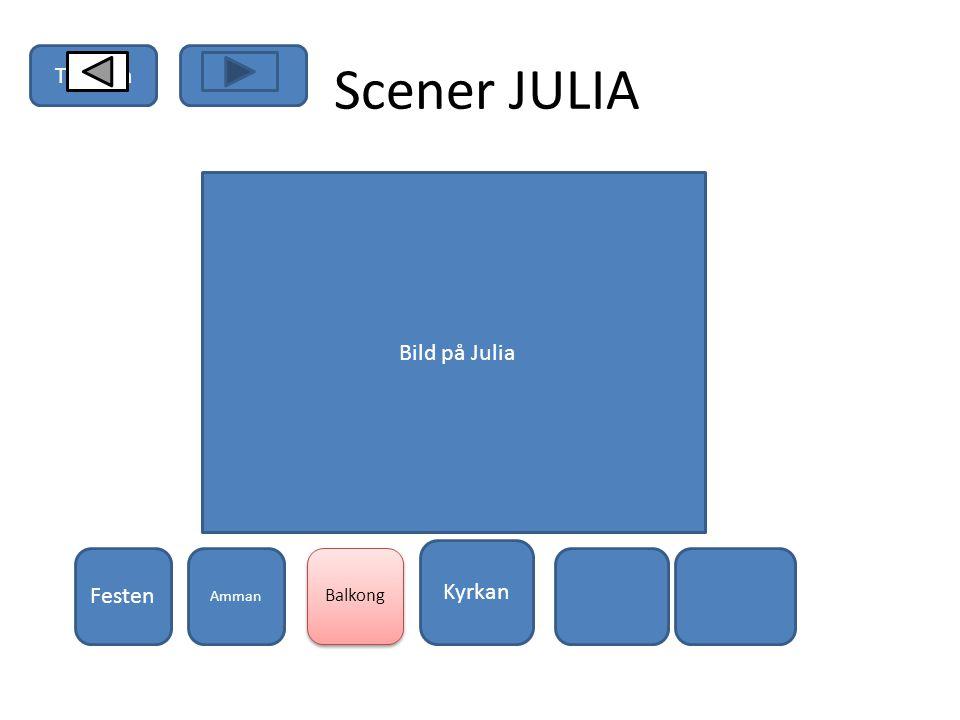 JULIA Vem är hon? Bild på Julia Lyssna på Julia Scener Senaste modet Humör Kärleks bekym mer TillbakaHem