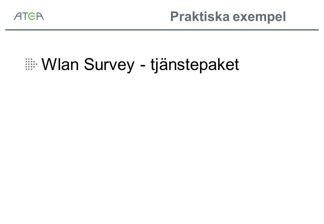 Praktiska exempel Wlan Survey - tjänstepaket