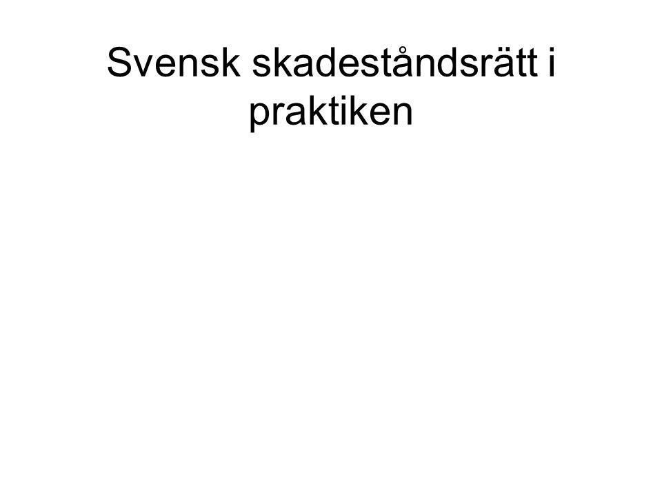 Svensk skadeståndsrätt i praktiken