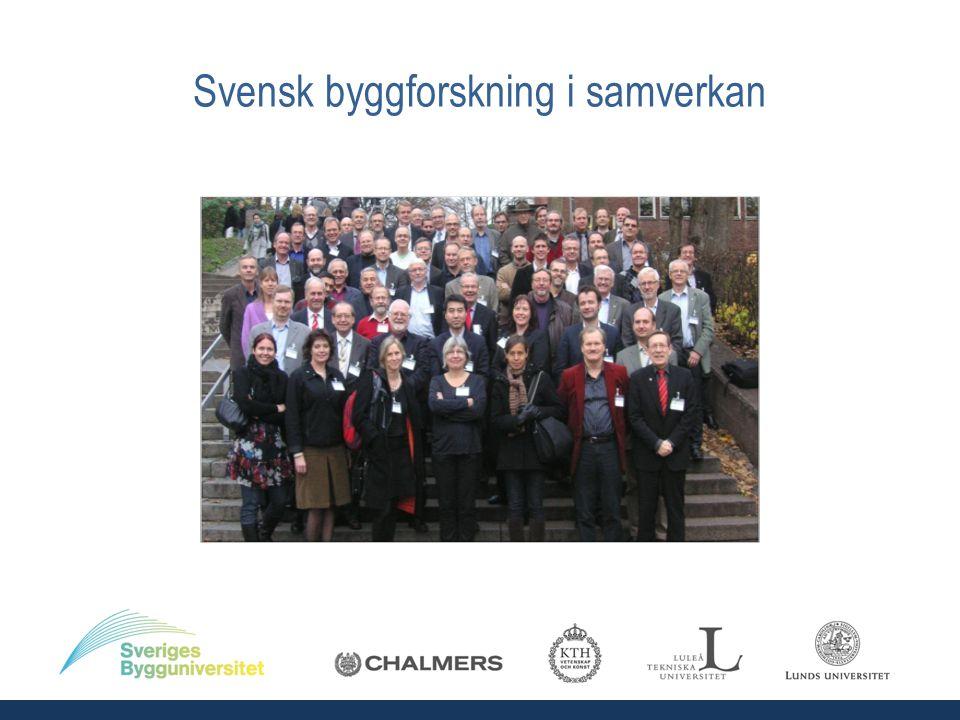 FoI Byggnadsverk – Trafikverket, SBU, SP m fl Forsknings- och kompetensutvecklingsprogram