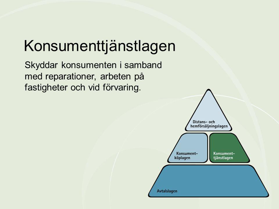 Skyddar konsumenten i samband med reparationer, arbeten på fastigheter och vid förvaring. Konsumenttjänstlagen