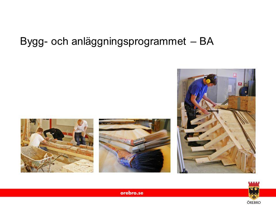 www.orebro.se Bygg- och anläggningsprogrammet – BA