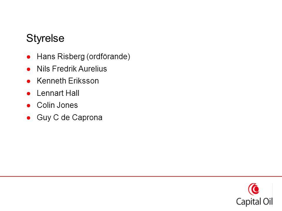 Styrelse ●Hans Risberg (ordförande) ●Nils Fredrik Aurelius ●Kenneth Eriksson ●Lennart Hall ●Colin Jones ●Guy C de Caprona