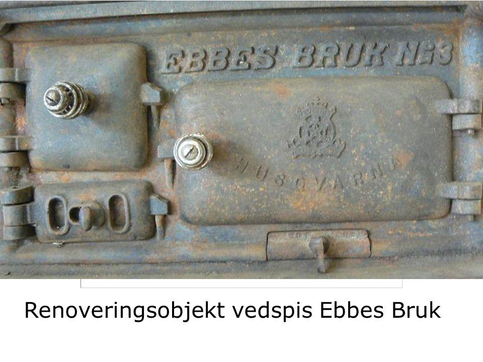 Renoveringsobjekt vedspis Ebbes Bruk