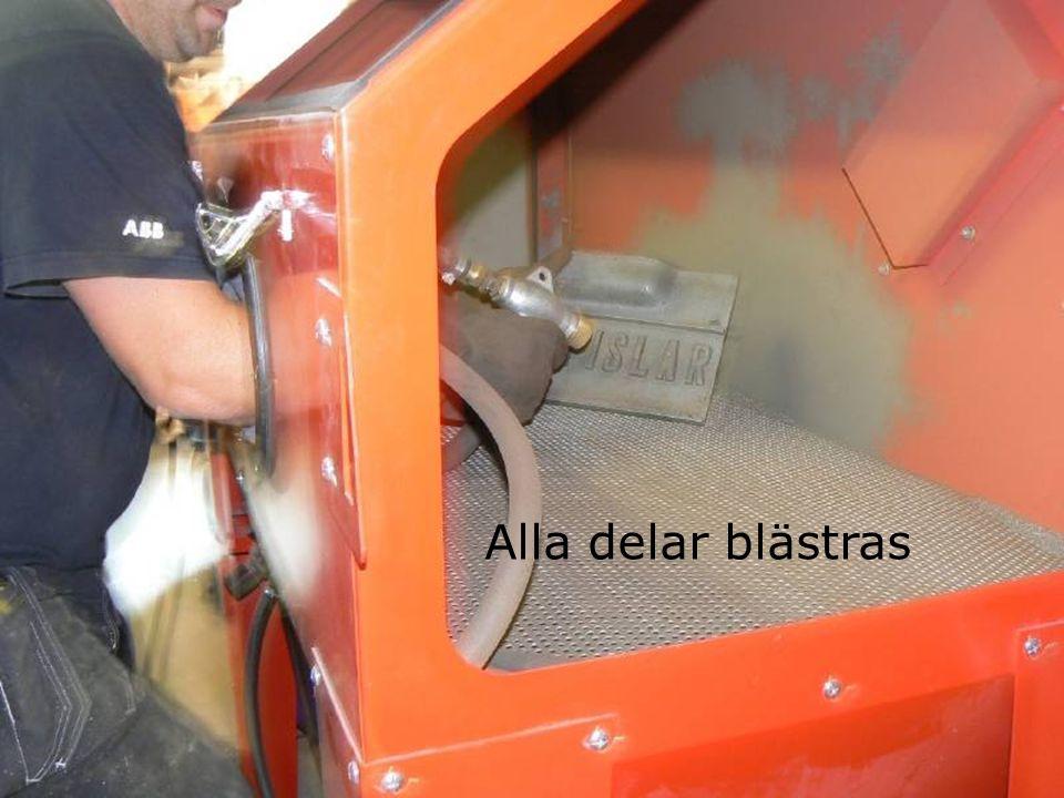 Brännjärnet får inte fästa mot bruket