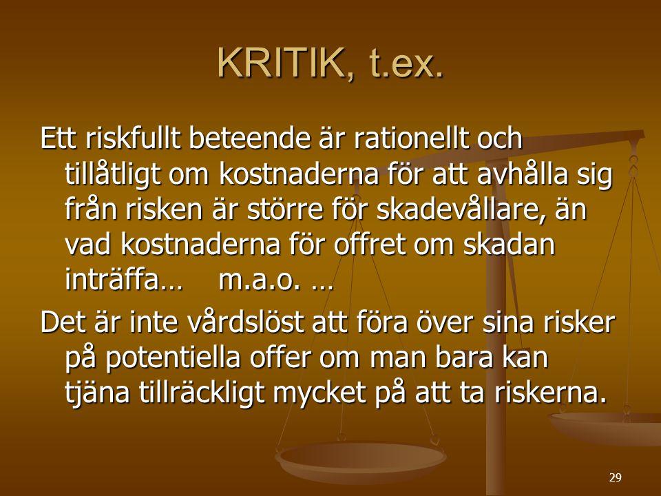 29 KRITIK, t.ex.